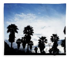 Silhouette In Tropea Fleece Blanket