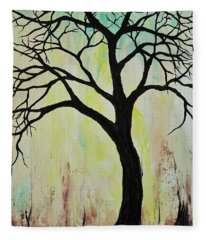 Silhouette Tree 2018 Fleece Blanket