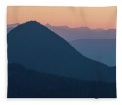 Silhouettes At Sunset, No. 2 Fleece Blanket