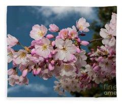 Silicon Valley Cherry Blossoms Fleece Blanket