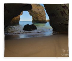 Silky Sands And Arch Fleece Blanket