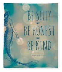 Silly Honest Kind Mermaid V5 Fleece Blanket