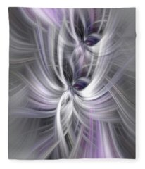 Silver Abstract Ascension. Mystery Of Colors Fleece Blanket