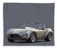 Silver Ac Cobra Fleece Blanket