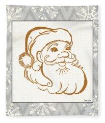 Silver And Gold Santa Fleece Blanket