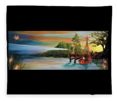 Silver Lake Fleece Blanket