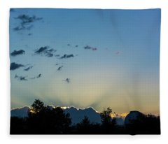 Silver Lining Fleece Blanket
