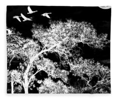 Silver Nights Fleece Blanket