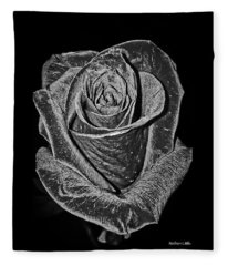 Silver Rose Fleece Blanket