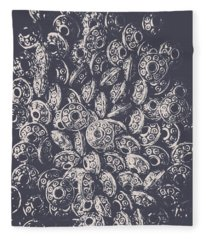 Silver Saucers From Outer Space Fleece Blanket