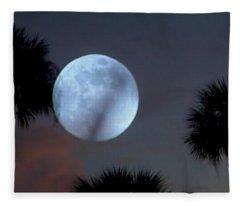 Silver Sky Ball Fleece Blanket