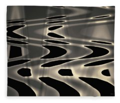 Silvery Abstraction Toned  Fleece Blanket
