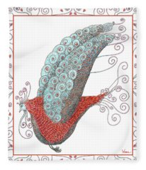 Simon Lovey The Exotic Bird With Border Fleece Blanket