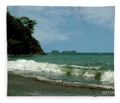 Simple Costa Rica Beach Fleece Blanket