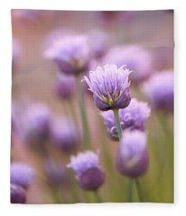 Simple Flowers Fleece Blanket