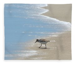 Simplicity Of A Beach's Beauty Fleece Blanket