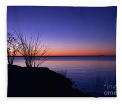 Simply Gentle Blue Fleece Blanket