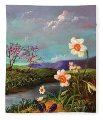 Simply Spring Fleece Blanket