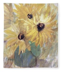 Simply Sunflowers  Fleece Blanket