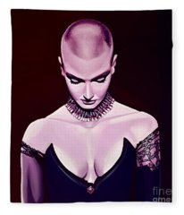 Sinead O'connor Fleece Blanket