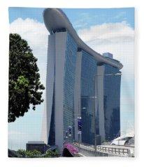 Singapore Landmark Fleece Blanket