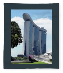 Singapore Landmark Fleece Blanket