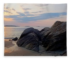 Singing Beach Rocky Sunrise Manchester By The Sea Ma Fleece Blanket