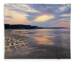 Singing Beach Sandy Beach Manchester By The Sea Ma Sunrise Fleece Blanket