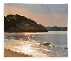 Singing Beach Silver Waves Manchester By The Sea Ma Fleece Blanket