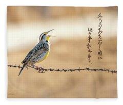 Singing Meadowlark Fleece Blanket