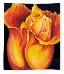 Singing Tulip Fleece Blanket