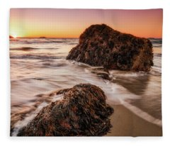 Singing Water, Singing Beach Fleece Blanket