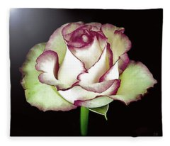 Single Beautiful Rose Fleece Blanket