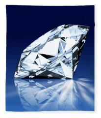 Single Blue Diamond Fleece Blanket