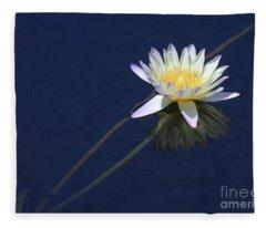 Single Lotus Fleece Blanket