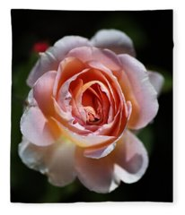 Single Romantic Rose  Fleece Blanket