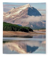 Single Shot Mountain - Early Light Fleece Blanket