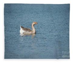 Single Swimmer Fleece Blanket