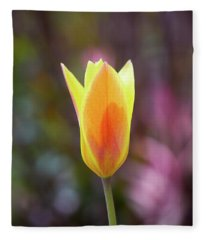 Single Tulip Fleece Blanket