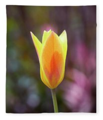 Single Tulip Fleece Blanket