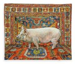 Singleton Carpet Pig Fleece Blanket