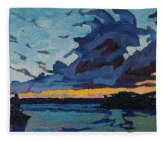 Singleton Sunset Stratocumulus Fleece Blanket