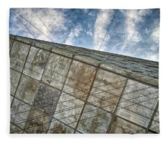 Sinking Building Sky Of Dread Fleece Blanket