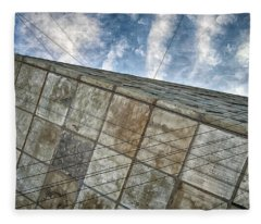 Sinking Building Sky Of Dread Fleece Blanket