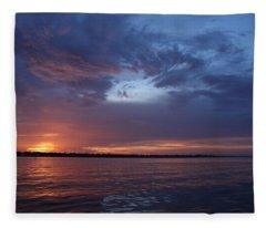 Sinking Sun Fleece Blanket