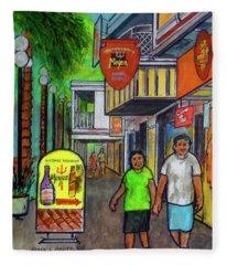 Sint Maarten Street Scene Fleece Blanket