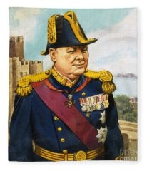 Sir Winston Churchill Fleece Blanket