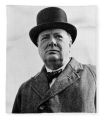 Sir Winston Churchill Fleece Blanket