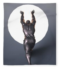 Sisyphus Lamp Fleece Blanket
