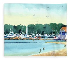 Sister Bay, Door County Fleece Blanket